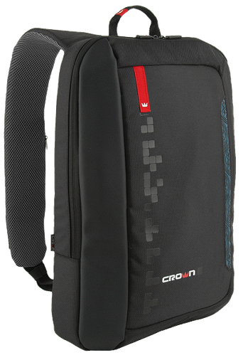 "Однолямочный рюкзак для ноутбука 15,6"" Crown Hymn Series, BPH1115B черный"