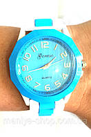 Часы Geneva на каучуковом ремешке, фото 1