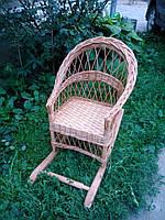 Детское плетеное кресло качалка