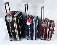 Комплект чемоданов фирмы CCS 3 в 1 на колесах (разноцветный)