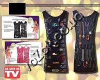 Органайзер платье для бижутерии и аксессуаров Hanging Jewelry Organizer Little Black Dress