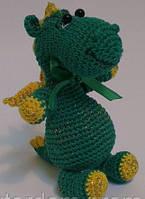 Детская Игрушка Дракон вязаный крючком