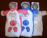 Конверт на новорожденного белый теплый