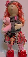 Детская Интерьерная Кукла Снежка с мишкой