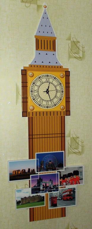 Биг Бен. Стенд для кабинета Английского языка с часами.