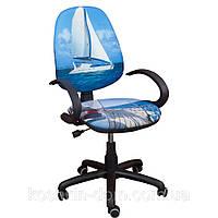 Компьютерное Кресло Поло 50/АМФ-5 Дизайн № 18 Яхта