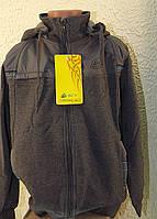 Трикотажный подростковый мужской спортивный костюм с вставками из тонкой плащевки