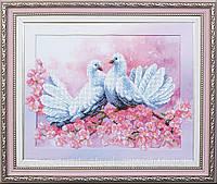 Набор для вышивки  бисером   Любовь и голуби