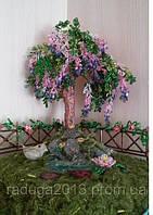 Композиция дерево желаний  из бисера, прекрасный подарок девушке на 8 марта