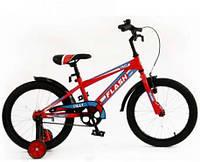 """Детский двухколесный велосипед Flash 18"""" салатовый и красный"""