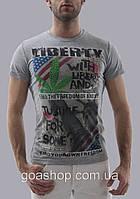 Распродажа. Футболка LIBERTY. Мужская футболка. Качественная футболка. Турция. Хлопок.Код:КОМ27-2