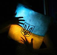 Подушка Патриота Украинский флаг и Герб светящаяся