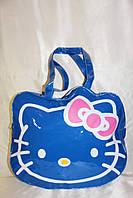Пляжная сумка брендовая Hello Kitty синяя