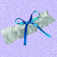 Подвязка для невесты с голубой лентой