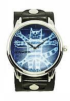 Прикольные наручные часы AndyWatch. Кот Давинчи
