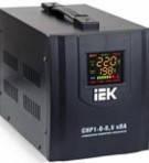 Релейный стабилизатор напряжения для дома ИЕК СНР1 8кВА электронный переносной