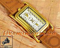 Женские наручные часы Louis Vuitton Quartz Dual Brown Gold White качественная копия
