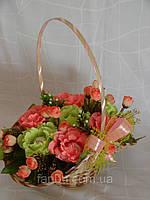 "Корзина роз из raffaello""Цветочный рай""№7"