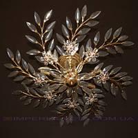 Люстра хрустальная припотолочная IMPERIA восьмиламповая LUX-450554