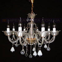 Люстра со свечами хрустальная IMPERIA восьмиламповая LUX-401414