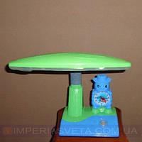 Детская ученическая настольная лампа IMPERIA дневного света с часами LUX-330063