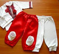 Костюмы для крещения мальчика Крестильный в украинском стиле | Рост 56 - 86 | Крестильный с шароварами