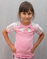 Блузка для девочки розовая