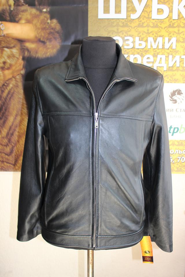 Стильная мужская кожанная куртка-пиджак