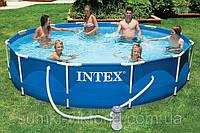 Каркасный бассейн 366х76см + фильтрующий насос, INTEX - 28212