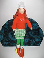 Кукла Тильда с косичками