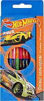 Карандаши цветные двухсторонние (12 шт) KITE 2014 Hot Wheels 054