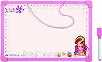 Доска магнитная, сухостираемая, А4  + маркер KITE 2013 Pop Pixie 146