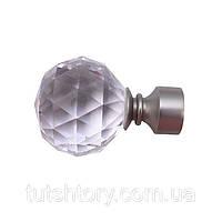 Окончание для кованого карниза Кристалл-шар, диаметр 16мм