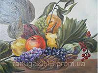 Картина маслом Натюрморт яблоки грушки, прекрасный подарок женщине на 8 марта