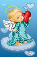 """БИС-1311 Рисунок на ткани для вышивки бисером """"С Любовью"""""""