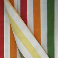 Ткань для детской в полоску разные цвета внутри