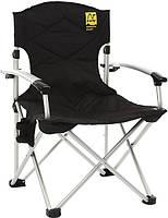 Кресло раскладное с уплотненной спинкой и жесткими подлокотниками TRF-004 Tramp