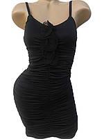 Нарядное облегающее черное платье (42,44)