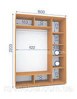 Шкафы купе (2200/1600/600), 2 двери