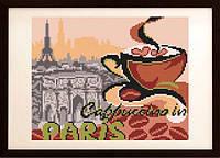 """Схема для вышивки бисером """"На капучино в Париж"""""""