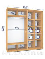 Шкафы купе (2200/2000/600), 2 двери