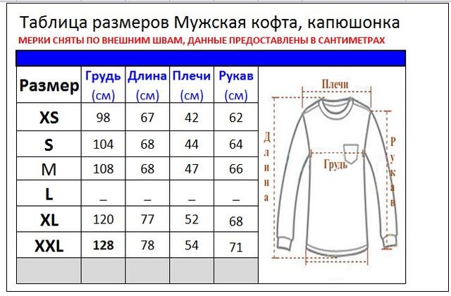 Размеры Мужских Джемперов