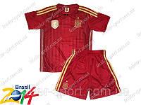 Детская футбольная форма  сборной Испании красная 2014г р-р L (152-158)