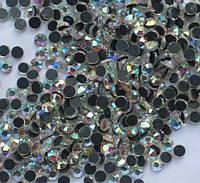 Стразы DMC, Crystal AB (хамелеон) SS16 с темно-серым клеем. Цена за 144шт