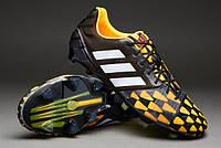 Футбольные бутсы adidas Nitrocharge 1.0 FG - Black/Running White/Neon Orange