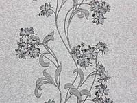 Обои винил на флизелине, аида, цветок, лиана, есть пара, К501 - 10, серый к черному, 1,06*10м