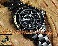 Женские наручные часы Chanel J12 Ceramic All Black Dimond керамика японский механизм качество