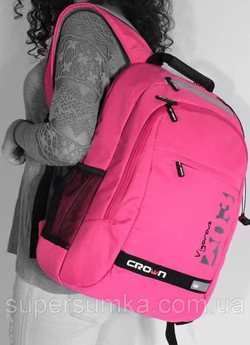 "Женский рюкзак для ноутбука 15,6"" Crown Vigorous Series, BPV-315Р розовый"