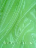 Гардина Микровуаль №24 темный ярко-салатный однотонная