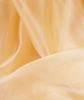 Гардина Микровуаль №27 светло -оранжевый однотонная